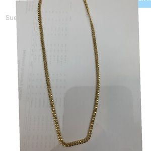 "14K Yellow Gold Semi-Solid 4mm Cuban Link 24"" In."